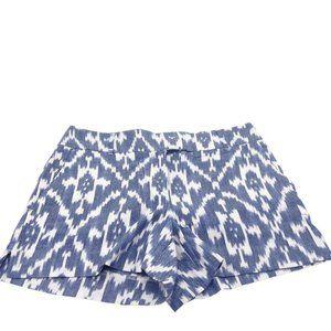 Ann Taylor LOFT Riviera Shorts 100% Cotton IKAT 6